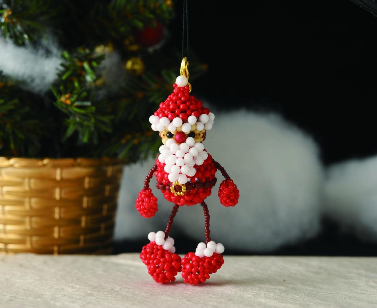 ぽっちゃりサンタさんのクリスマスオーナメント BM-16827